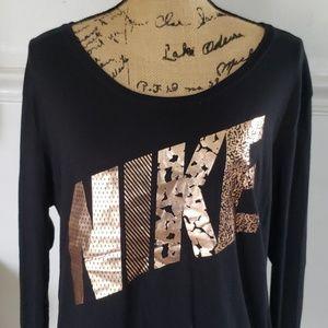 Rose gold Nike long sleeve tshirt medium